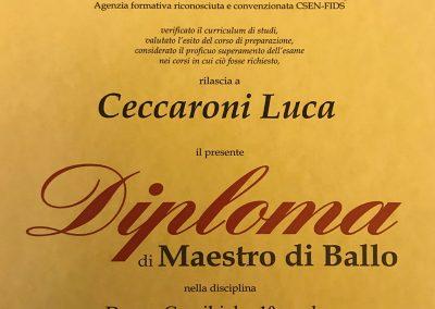 Diploma Maestro di ballo