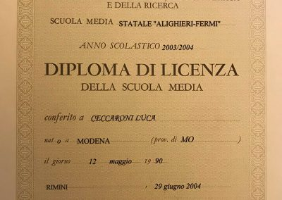 Diploma di Licenza Media