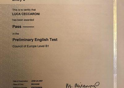 Certificazione Inglese PET